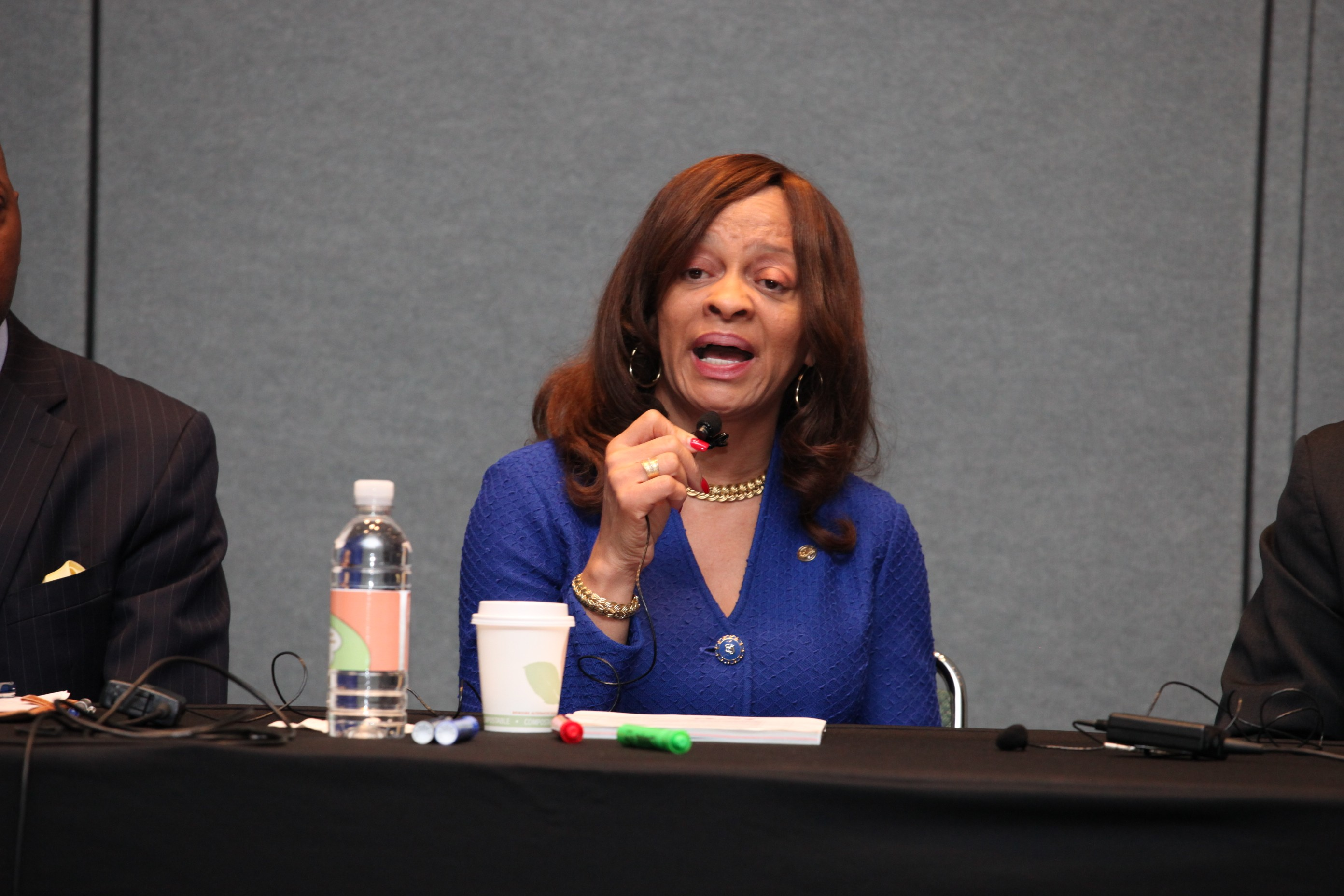 Panelist Beverly A. Jennings of Johnson & Johnson at Wednesday's workshop.